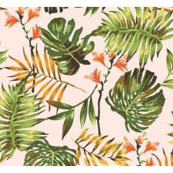 New Selection 339-1 Yaprak Desenli Tropikal Duvar Kağıdı