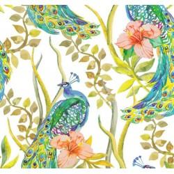 New Selection 340-1 Tavus Kuşu Desenli Duvar Kağıdı