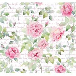 New Selection 345-1 Pembe Gül Desenli Duvar Kağıdı