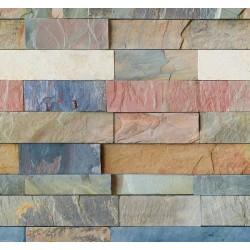 New Selection 358-1 Renkli Taş Desenli Duvar Kağıdı