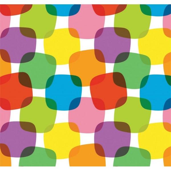 Pop Art 512068 Rengarenk Küp Desenli Duvar Kağıdı