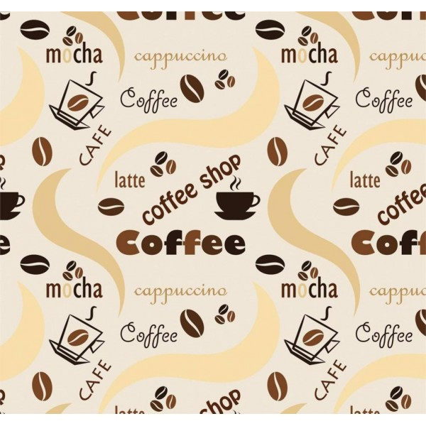 Pop Art 512078 Coffee Yazılı Duvar Kağıdı