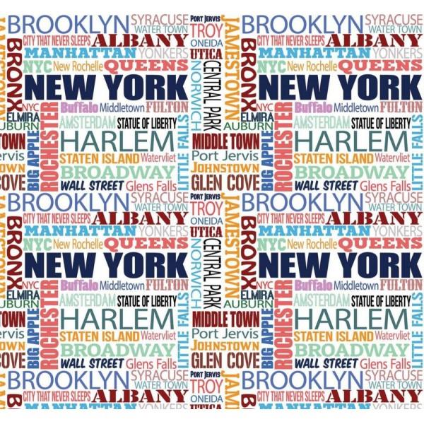 Pop Art 512088 New York Yazılı Duvar Kağıdı